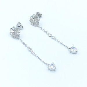 Jewelry - 🍀925 SS Clover Stud Dangling Earrings🍀